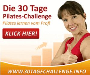 Die 30 Tage Pilates Challenge,Trainerin zeigt Daumen hoch