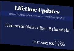 Membership Karte für Hämorrhoiden selber Behandeln